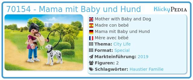 Playmobil 70154 - Mama mit Baby und Hund