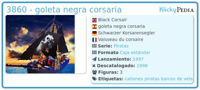Playmobil 3860 - goleta negra corsaria