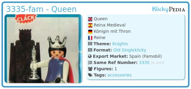 Playmobil 3335-fam - Queen