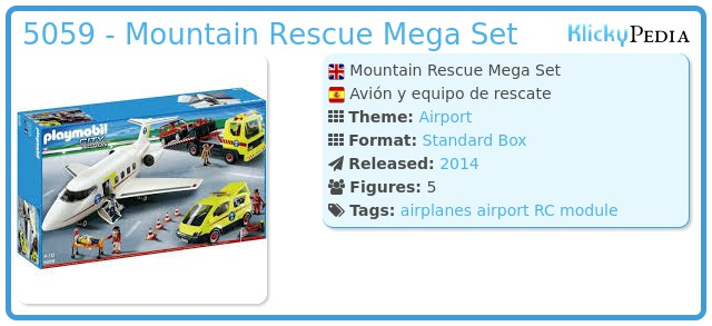 Playmobil 5059 - Mountain Rescue Mega Set