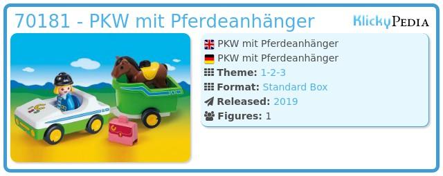 Playmobil 70181 - PKW mit Pferdeanhänger