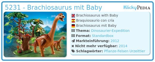 Playmobil 5231 - Brachiosaurus mit Baby
