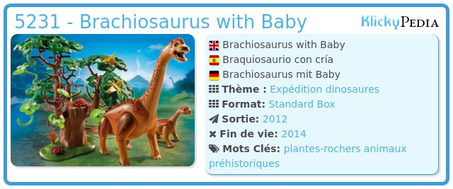 Playmobil 5231 - Brachiosaurus with Baby