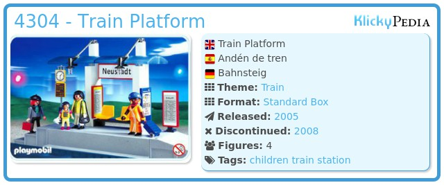 Playmobil 4304 - Train Platform