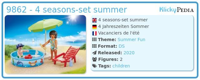 Playmobil 9862 - 4 seasons-set summer
