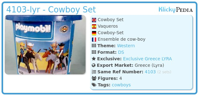 Playmobil 4103-lyr - Cowboy Set