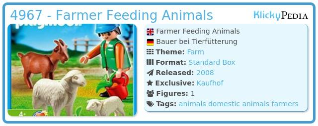 Playmobil 4967 - Farmer Feeding Animals