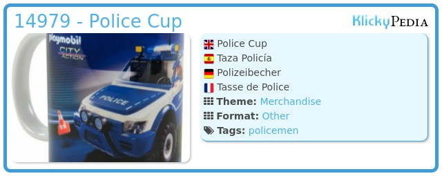 Playmobil 14979 - Police Cup
