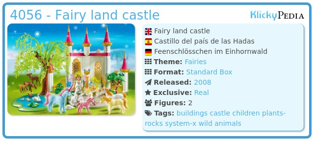 Playmobil 4056 - Fairy land castle