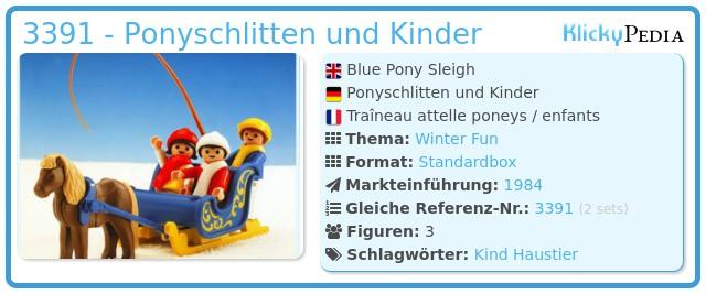 Playmobil 3391 - Ponyschlitten und Kinder