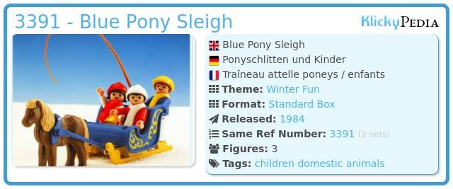 Playmobil 3391 - Blue Pony Sleigh