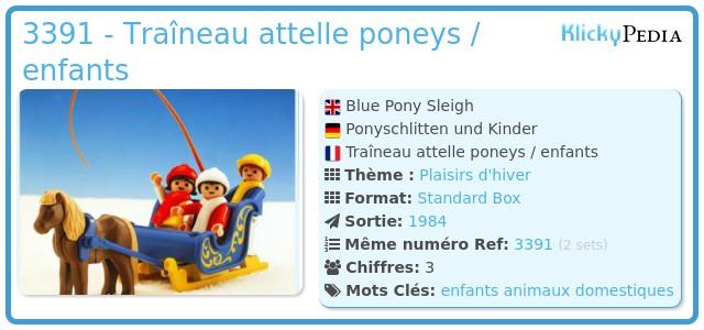 Playmobil 3391 - Traîneau attelle poneys / enfants