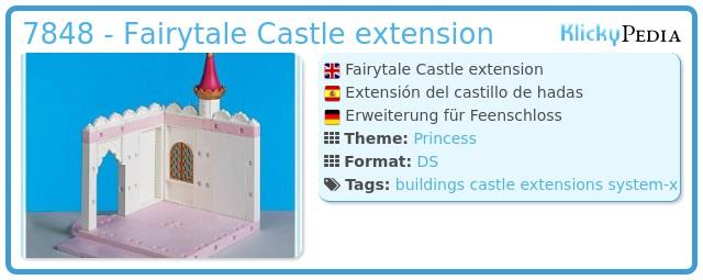 Playmobil 7848 - Fairytale Castle extension