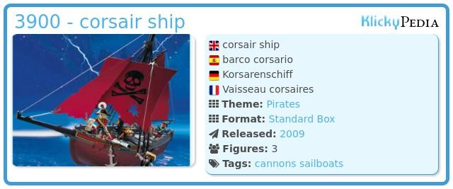 Playmobil 3900 - corsair ship