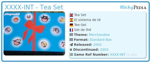 Playmobil XXXX-INT - Tea Set