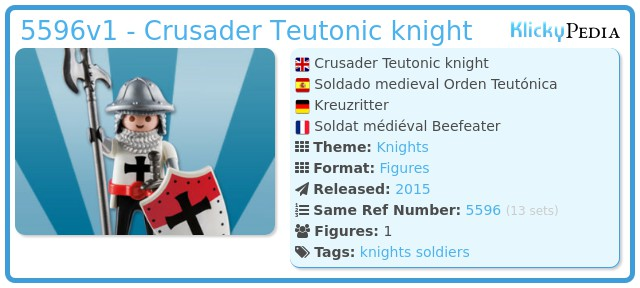 Playmobil 5596v1 - Crusader Teutonic knight