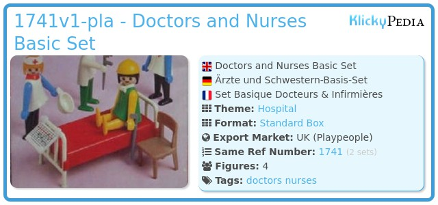 Playmobil 1741v1-pla - Doctors and Nurses Basic Set