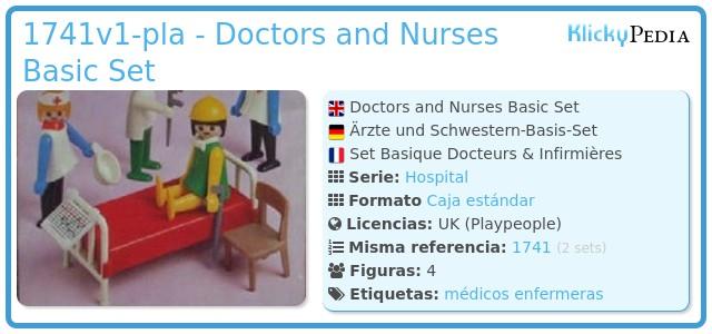 Playmobil 1741v1-pla - Doctors and Nurses Basic Set