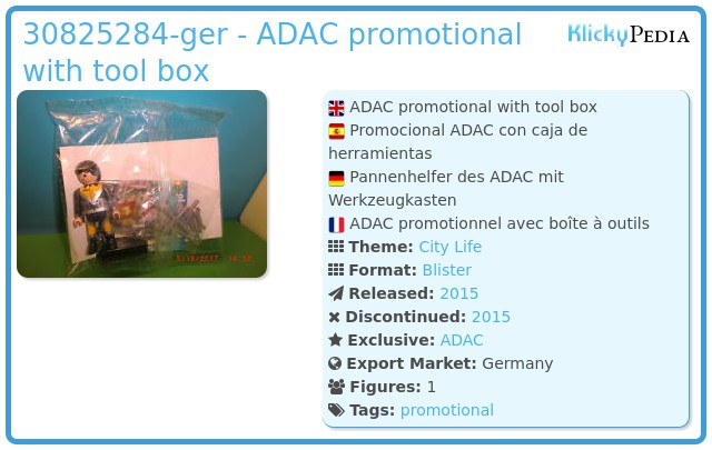 Playmobil 30825284-ger - ADAC promotional with too box
