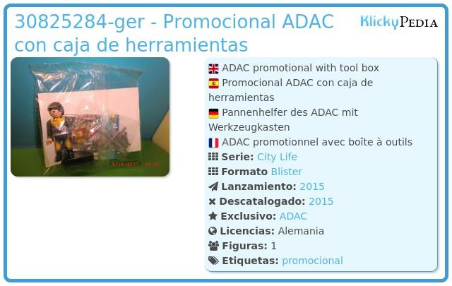 Playmobil 30825284-ger - Promocional ADAC con caja de herramientas