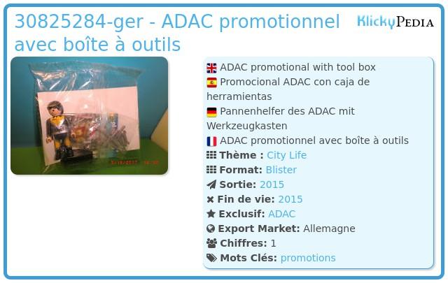 Playmobil 30825284-ger - ADAC promotionnel avec boîte à outils