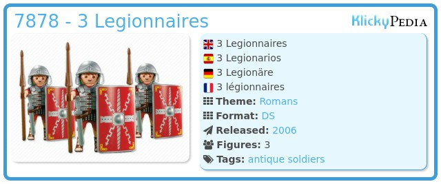Playmobil 7878 - 3 Legionnaires