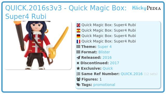 Playmobil QUICK.2016s3v3 - Quick Magic Box: Super4 Rubi