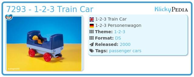 Playmobil 7293 - 1-2-3 Train Car
