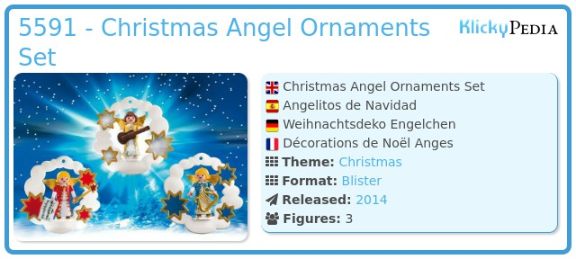 Playmobil 5591 - Christmas Angel Ornaments Set