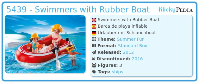 Playmobil 5439 - Swimmers with Rubber Boat