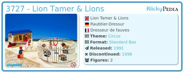 Playmobil 3727 - Lion Tamer & Lions