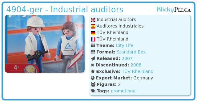 Playmobil 4904-ger - Industrial auditors