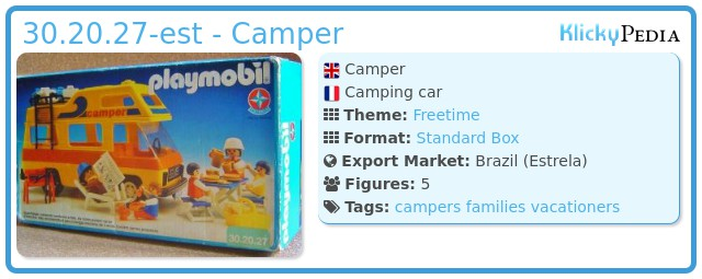 Playmobil 30.20.27-est - Camper