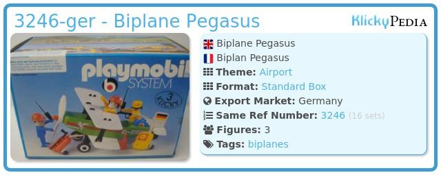 Playmobil 3246-ger - Biplane Pegasus