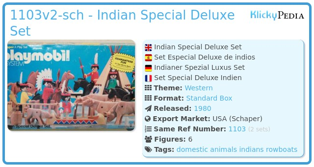 Playmobil 1103v2-sch - Indian Special Deluxe Set