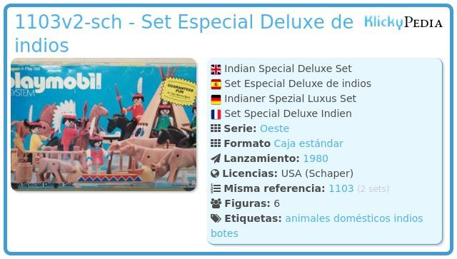 Playmobil 1103v2-sch - Set Especial Deluxe de indios