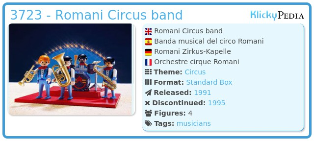 Playmobil 3723 - Romani Circus band