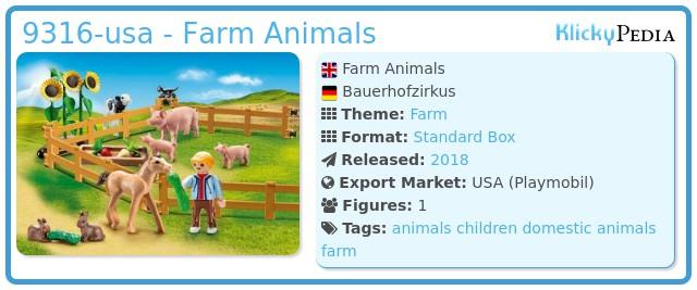 Playmobil 9316 Farm Animals