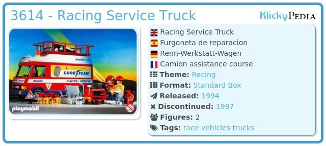 Playmobil 3614 - Racing Service Truck