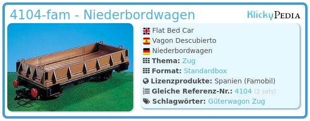 Playmobil 4104-fam - Niederbordwagen