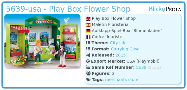 Playmobil 5639-usa - Play Box Flower Shop