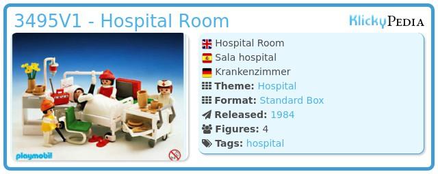 Playmobil 3495V1 - Hospital Room