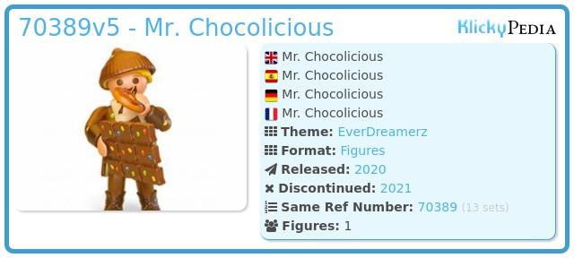 Playmobil 70389V5 - Mr. Chocolicious