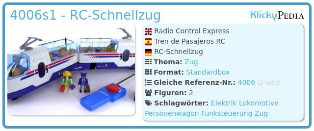 Playmobil 4006s1 - RC-Schnellzug