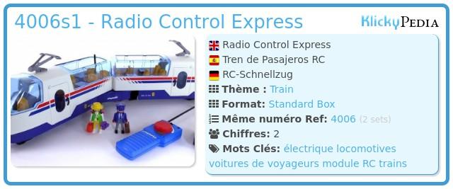 Playmobil 4006s1 - Radio Control Express