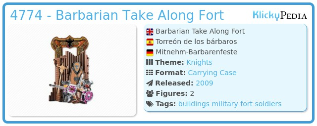Playmobil 4774 - Barbarian Take Along Fort