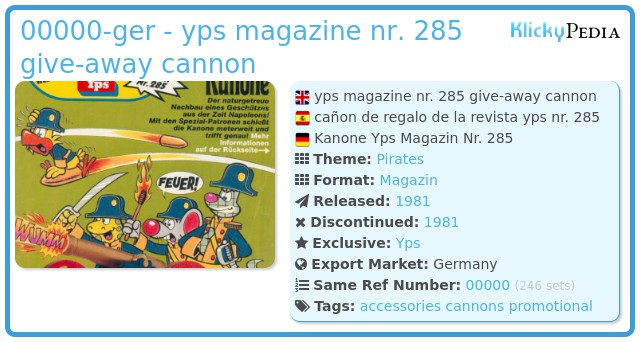 Playmobil 0000v2-ger - yps magazine nr. 285 give-away cannon