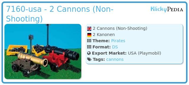 Playmobil 7160-usa - 2 Cannons (Non-Shooting)