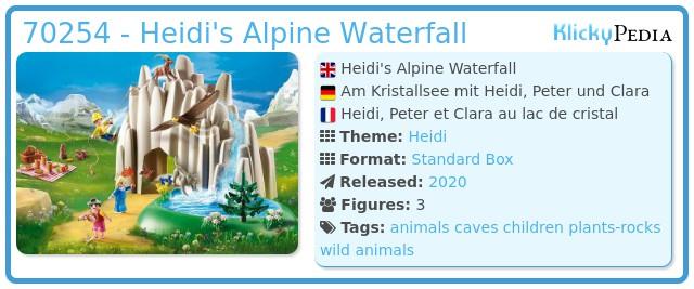 Playmobil 70254 - Heidi's Alpine Waterfall