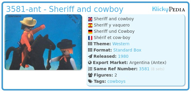 Playmobil 3581-ant - Sheriff and cowboy